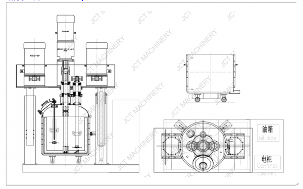 Dispersing Mixing Machine for Silicone Rubber Products structure