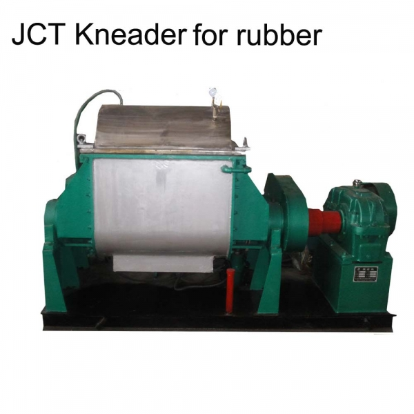 Rubber mixer machine with disperser blades