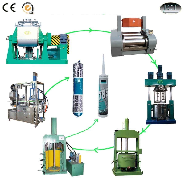 Silicone sealant high pressure and mixing machine manufacture