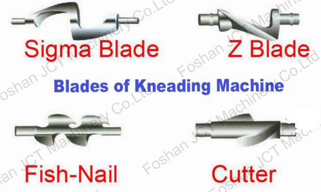 How many kinds of the agitator blade types of sigma kneader?